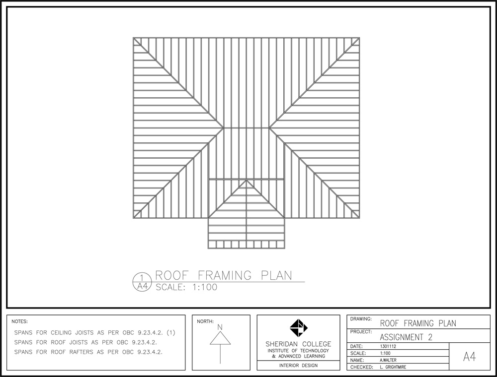 Roof Framing Plan Autocad Images