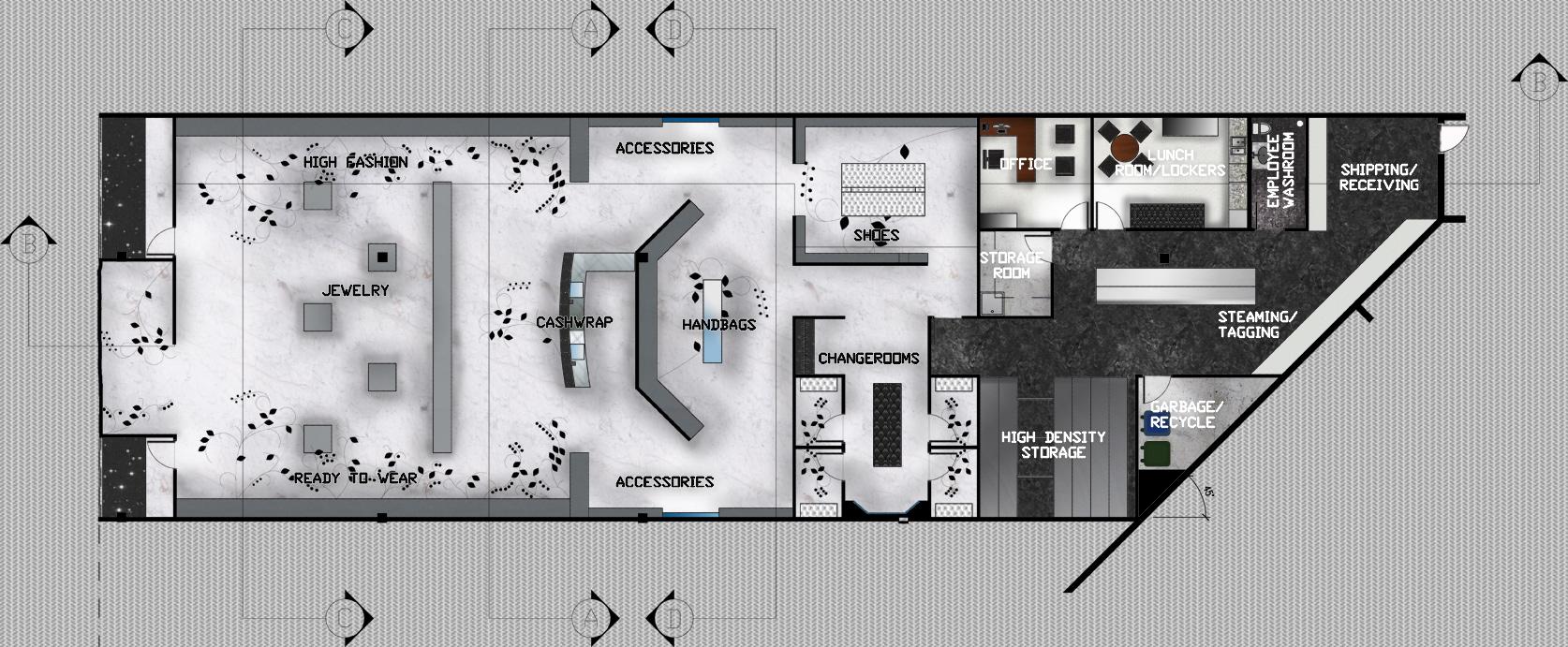 Restaurant floor plan in autocad joy studio design for Rendered floor plan