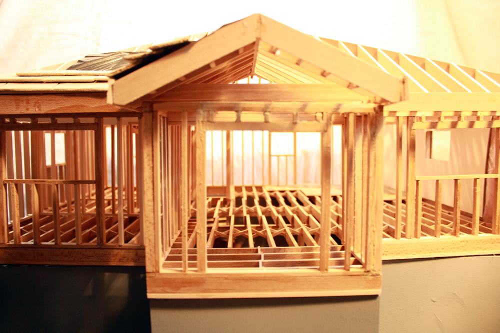 Wood Frame House Model