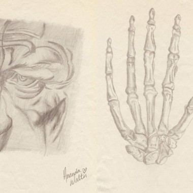 Hand-and-skull